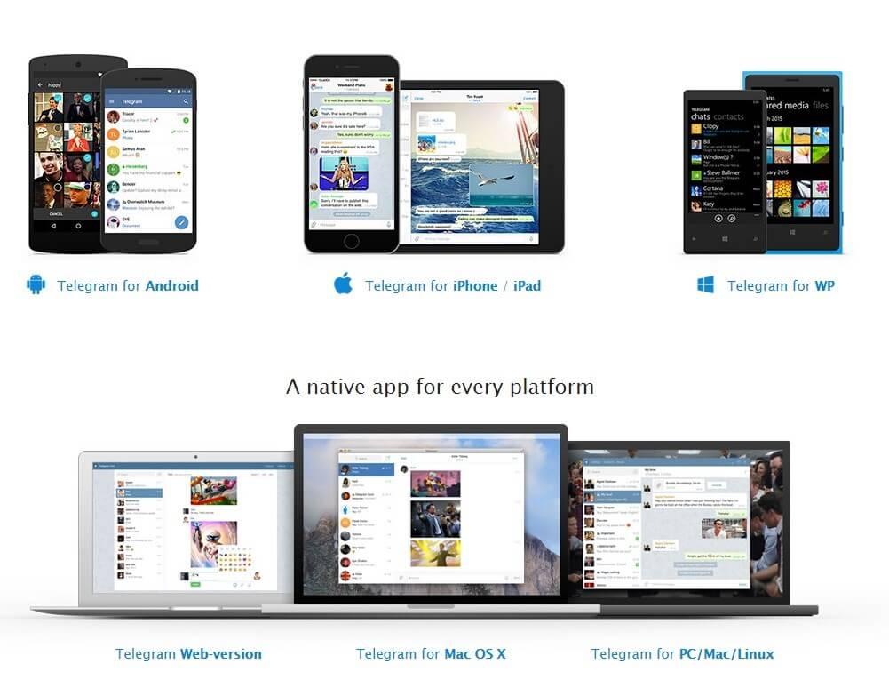 Aplicatuvo multiplataforma Telegram