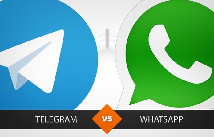 Diferenças entre o Telegram e o Whatsapp