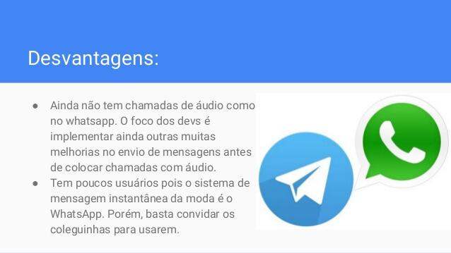 telegram-desvantagens